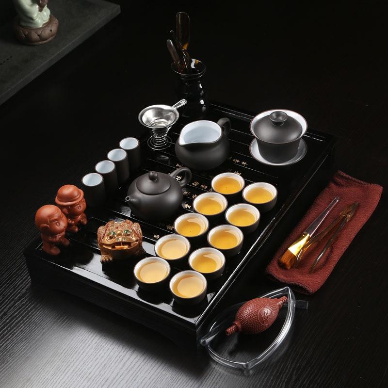 27 Pcs Tea Sets Chinese Kung Fu Tea Set Ceramic Portable Teacup Porcelain Service Gaiwan Tea Cups Mug of Tea Ceremony Teapot