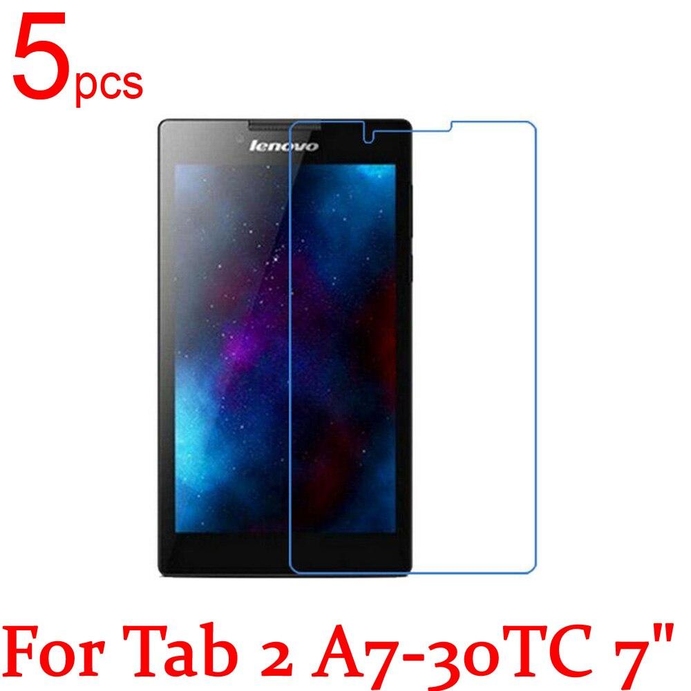 5 pièces Ultra clair/mat/Nano anti-Explosion LCD écran protecteur Film couverture pour Lenovo Tab 2 A7 10F 20F 30TC 7