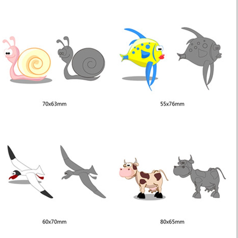 Cutting Dies New cartoon animals pattern Metal Scrapbooking Dies Animal Cutting Dies Cut For DIY Greeting Card Decorations