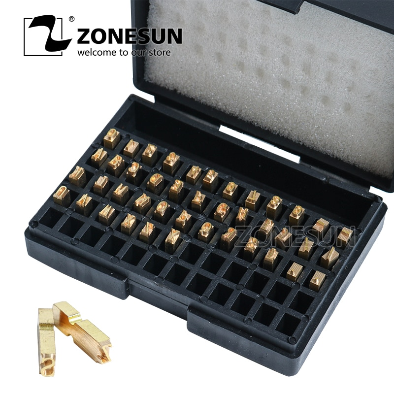 ZONESUN A-Z 0-9 حرف رقم الرسالة الساخن لرمز الشريط تاريخ آلة طباعة