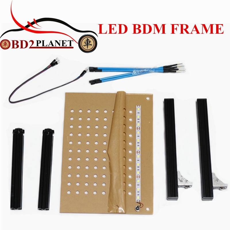 Alta calidad marco LED BDM acrílico ECU programador conjunto completo BDM marco con 4 Uds sonda bolígrafos para KTAG K-TAG KESS V2 Fgtech BDM100