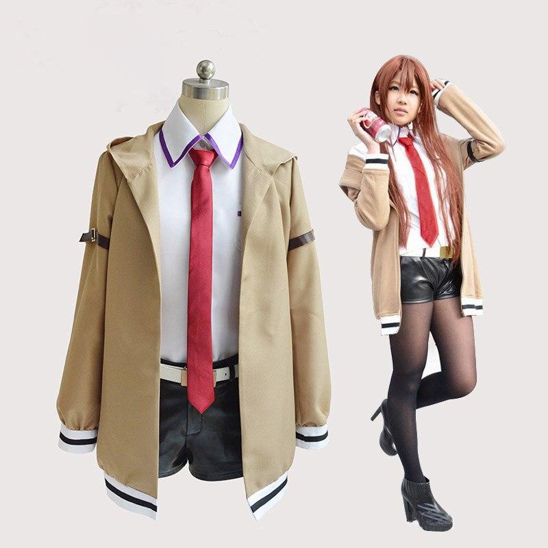 Steins Gate Cosplay traje japonés Anime Cosplay Makise Kurisu chaqueta de disfraz Cosplay trajes uniforme