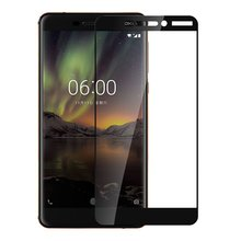 Full Coverage Tempered Glass Screen Protector Film Edge to Edge Protection for NOKIA 6 2018