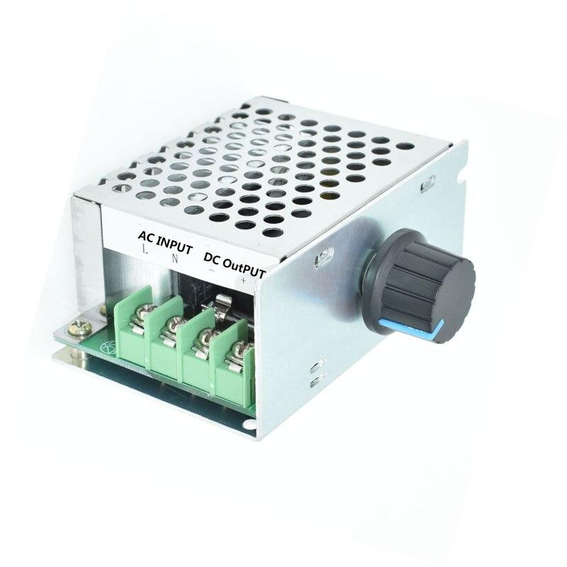 Input AC 220V output DC 10-210V PWM Controller Brush 220V DC motor speed regulator