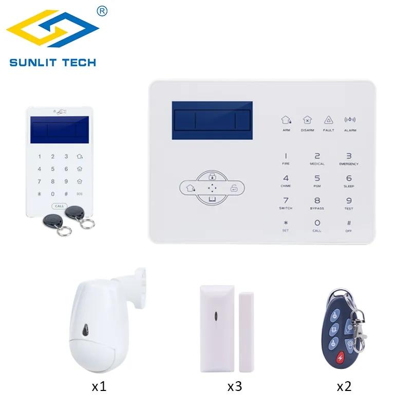Système d'alarme sans fil GSM PSTN, Kit d'installation autonome, application IOS Android, télécommande, maison intelligente, capteur de mouvement PIR, détecteur de porte/fenêtre