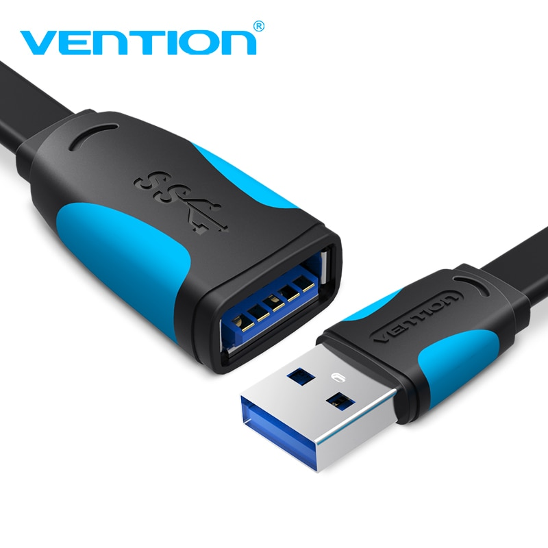 Vention USB Extension Cable 3.0 Male to Female USB Cable Extender Data Cord for Laptop PC Smart TV PS4 Xbox One SSD USB to USB