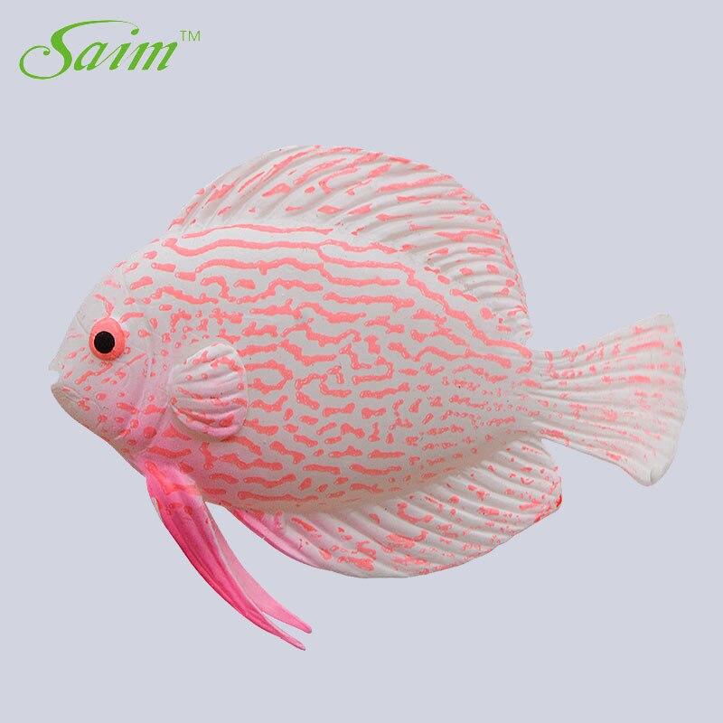 Saim Falso Plástico Flutuante Peixe Artificial de Peixes Pequenos Peixes Tropicais Simulação Vívida Paisagem Decoração Do Ornamento Do Aquário