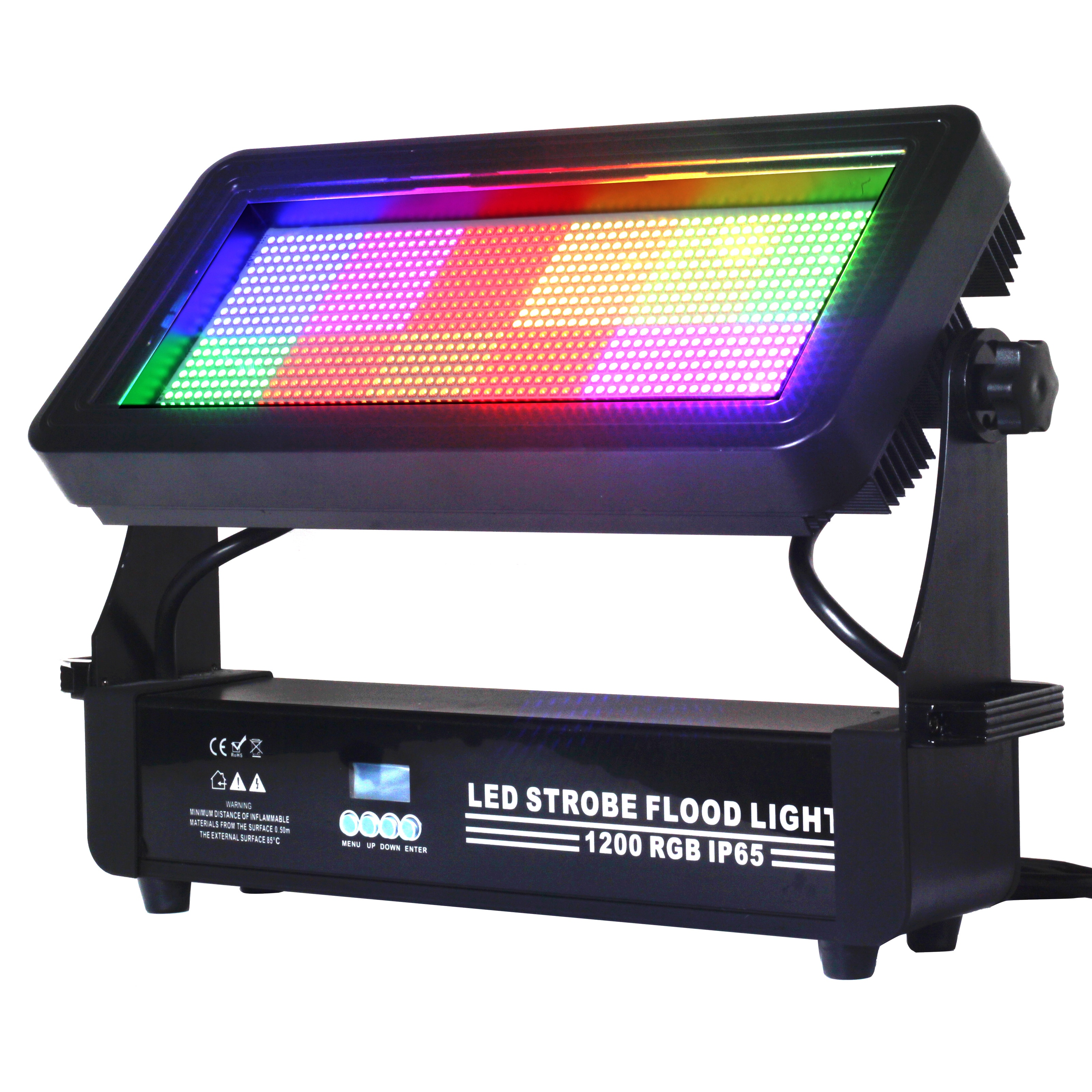 1200 LED ستروب ضوء 1000W IP65 المرحلة وامض الإضاءة بار ديسكو DJ KTV الصوت المنشط مصباح المرحلة تأثير الإضاءة