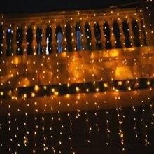 Grossiste 10 pièces 3 M * 3 M rideau lumières 300 LED s blanc RVB Couleurs LED Lumières De Rideau De Noël AC220/110 V 22 W décoration de mariage