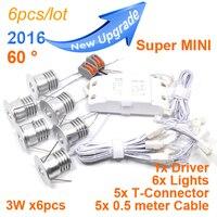 6pcs/lot mini 3w led exhibition light lamp 60D dimmable led ceiling downlight 110-240v led spot light indoor led lighting driver