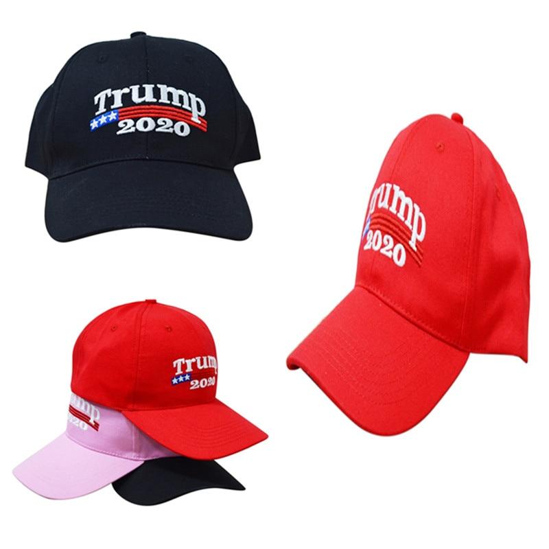 1Pcs High Quality Trump 2020 Make America Great Again Donald Hat Black Pink Red Daddy Cap US Republican Black-TOP