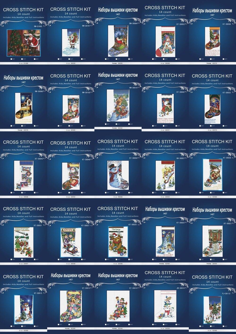 Dimensions0864 Sok Borduren Floss Geteld Kruissteek 14CT Diy Handwerken Borduurpakketten Voor Borduren Een Crosscraft