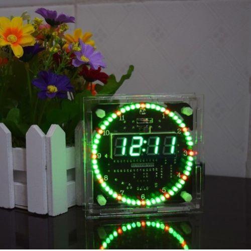 Kit giratorio LED electrónico temperatura DS1302 reloj con pantalla digital tiempo DIY