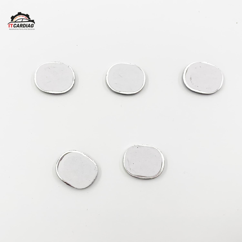 5 pcs 15*13mm Car Key Shell Sticker Logo For Mazda Emblem Badge square Aluminum DIY metal car key logo Black white color