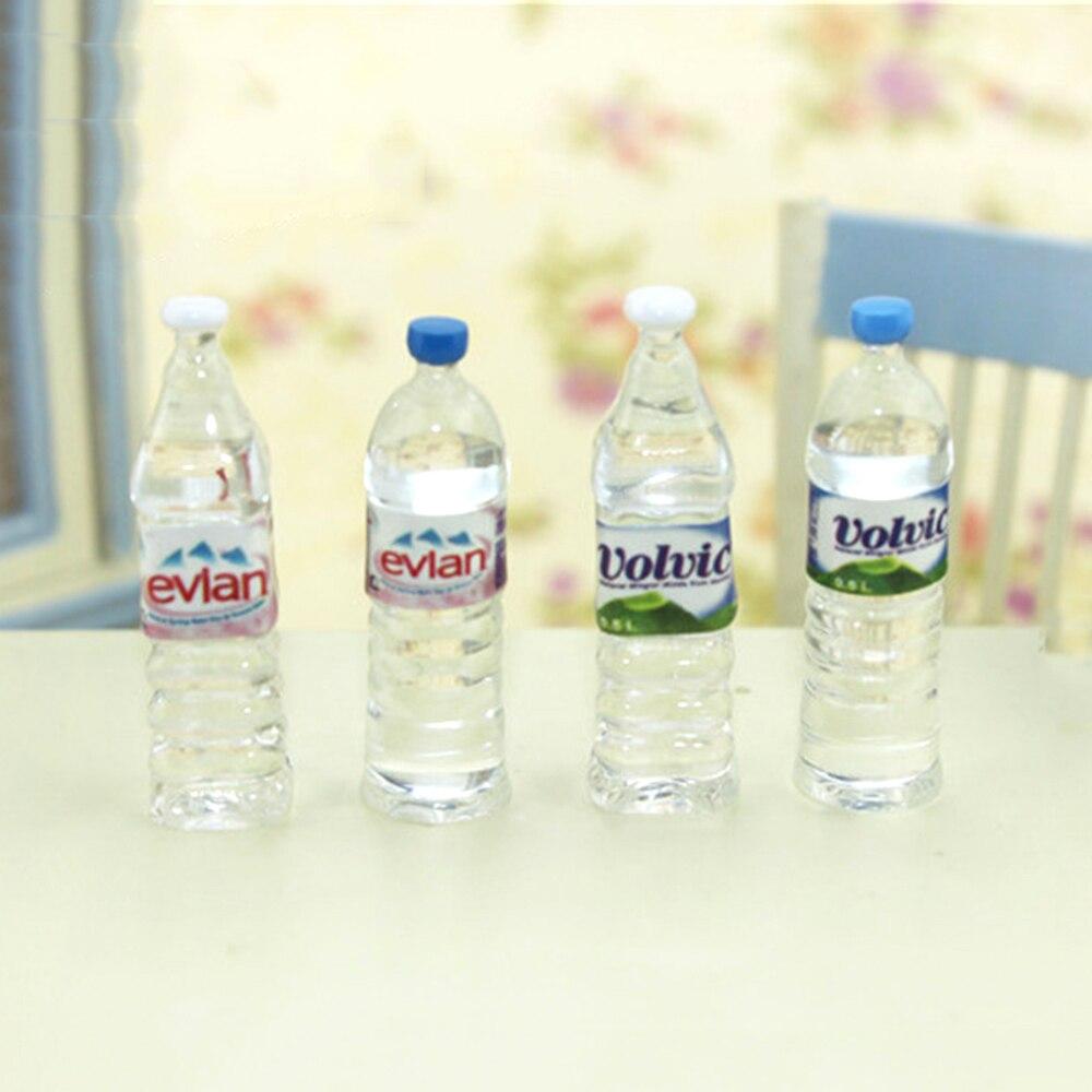 Миниатюрные аксессуары для кукольного домика, Миниатюрные аксессуары, миниатюрная бутылка для минеральной воды, имитация напитков, модель,...