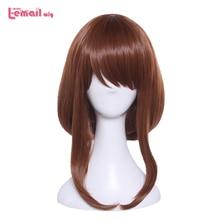 L-email wig Brand My Hero Academia Ochako Uraraka Cosplay Wigs Brown Heat Resistant Synthetic Hair Halloween Cosplay Wig