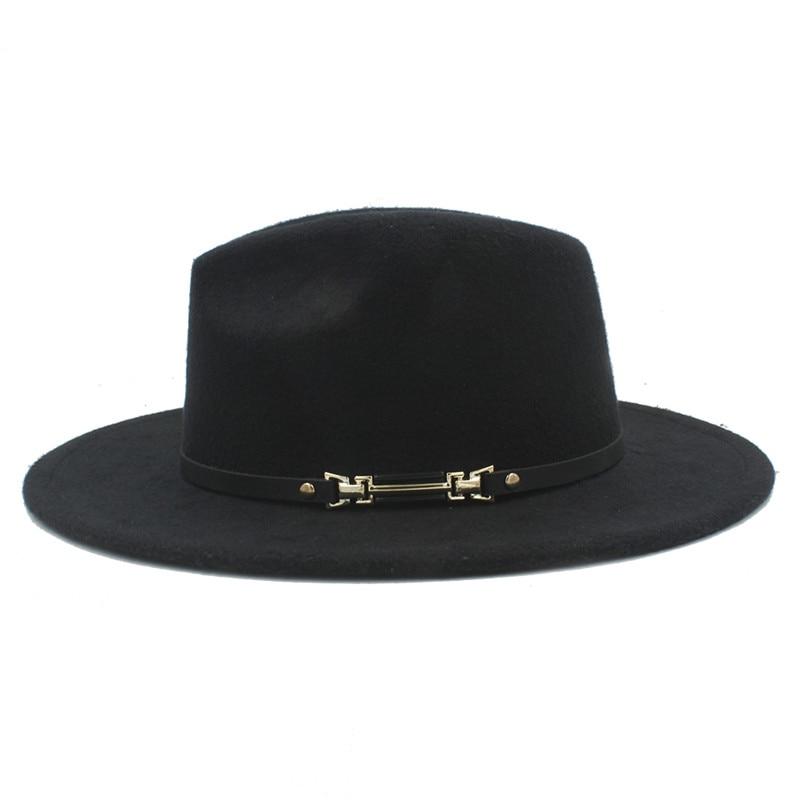 Retro Wool Women's Outback Felt Fedora Hat Winter Elegant Lady Gangster Trilby Godfather Mafia Caps Size 56-58CM Z18