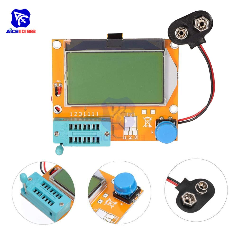 Mega328 LCR-T4 тестер транзисторов Диод Триод Емкость ESR метр MOS PNP/NPN M328 конденсатор ESR SCR MOSFET резистор детектор