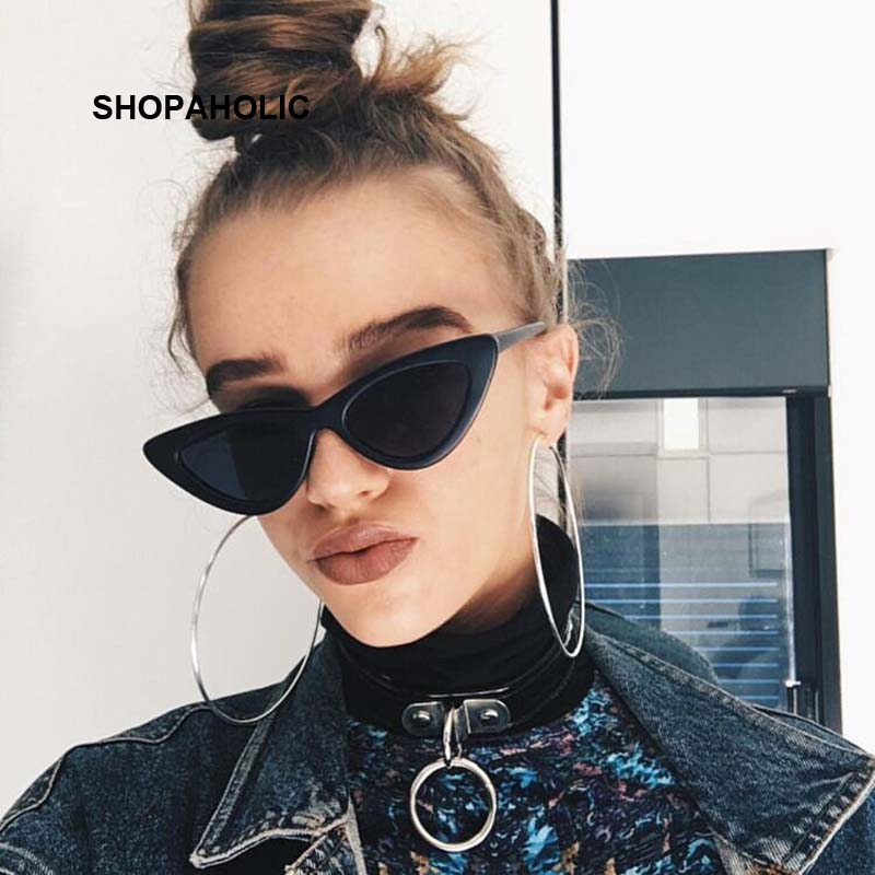Small Cat Eye Ladies Sunglasses Red Black Frame Women Brand Designer Sun Glasses for Women Vintage S