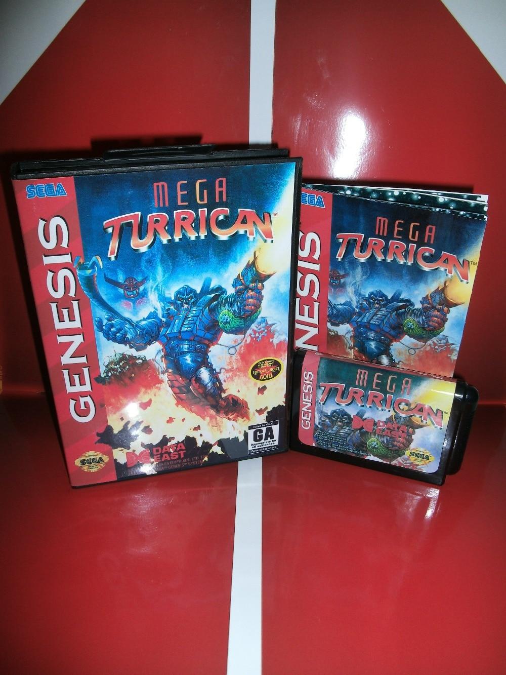 Mega Turrican con guía manual + caja de venta al por menor...