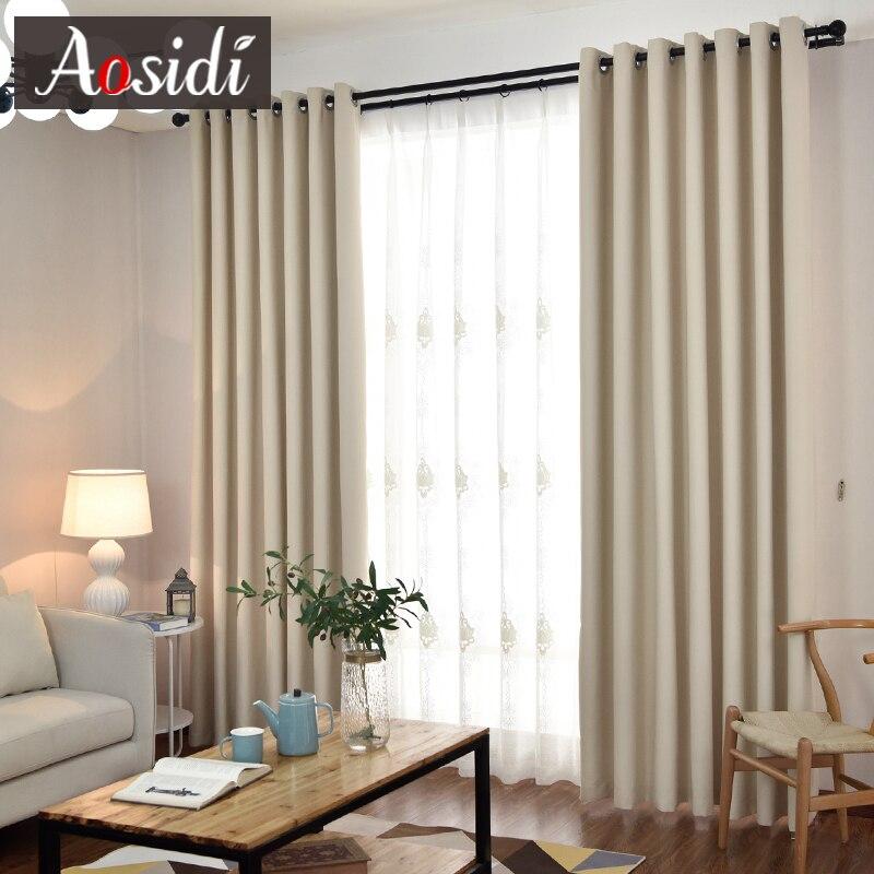 AOSIDI cortinas opacas modernas para sala de estar, cortinas de tela sólida para cortinas de dormitorio, ventanas listas para cortinas acabadas