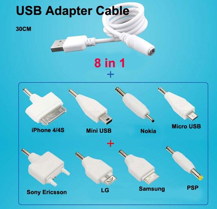 8 в 1 универсальный USB Мульти Кабель Смарт-адаптер зарядное устройство микро мини USB кабель для mp3 mp4 nokia psp 4s LG камера игры звук