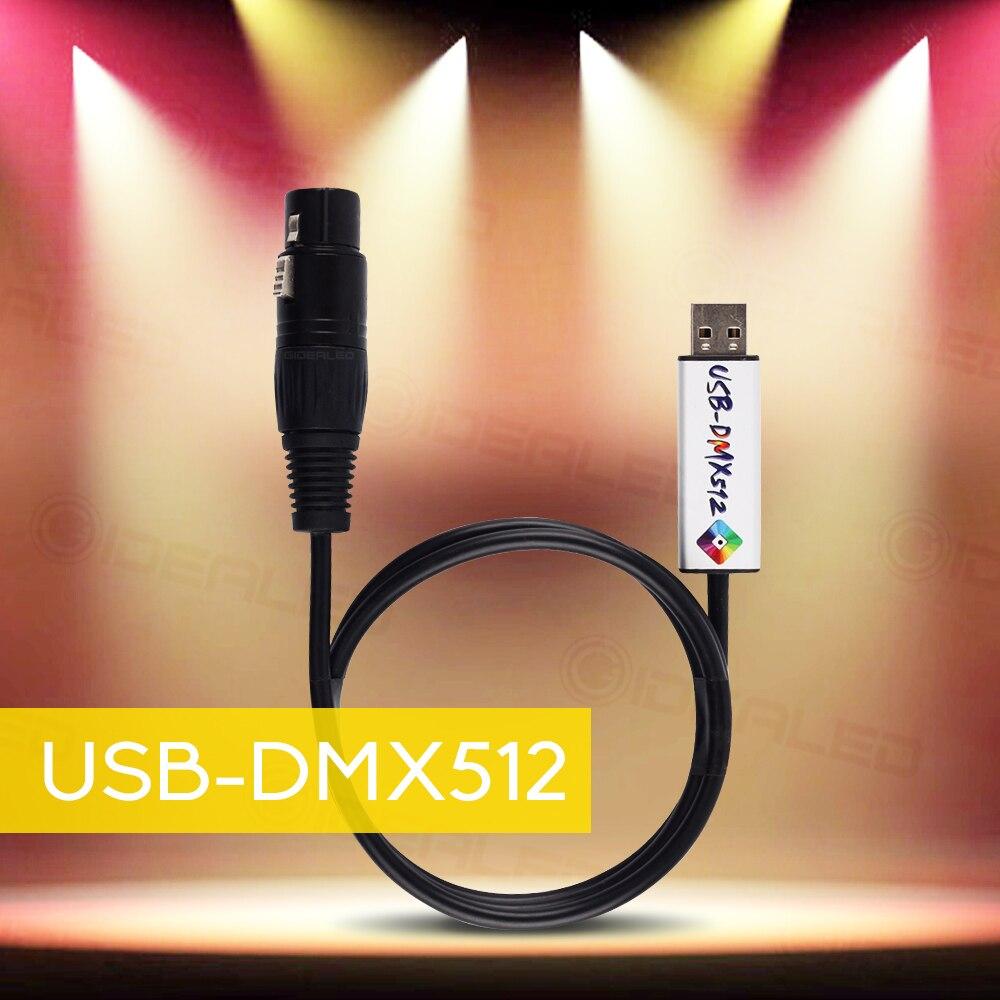 USB do DMX adapter interfejsu DMX512 Studio komputer PC etapie sterownik oświetlenia ściemniacz sterowania Stage efekt led oświetlenie