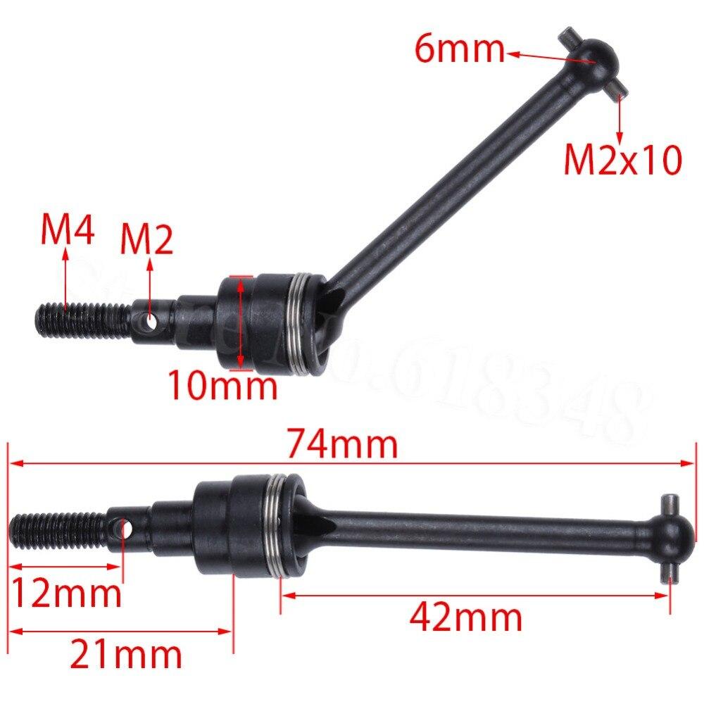 Eje de transmisión Universal de Metal 2 uds., Dogbone CVD para 1/10 RC TAMIYA CC01, piezas de repuesto para Crawler de roca, piezas de mejora Hop-up