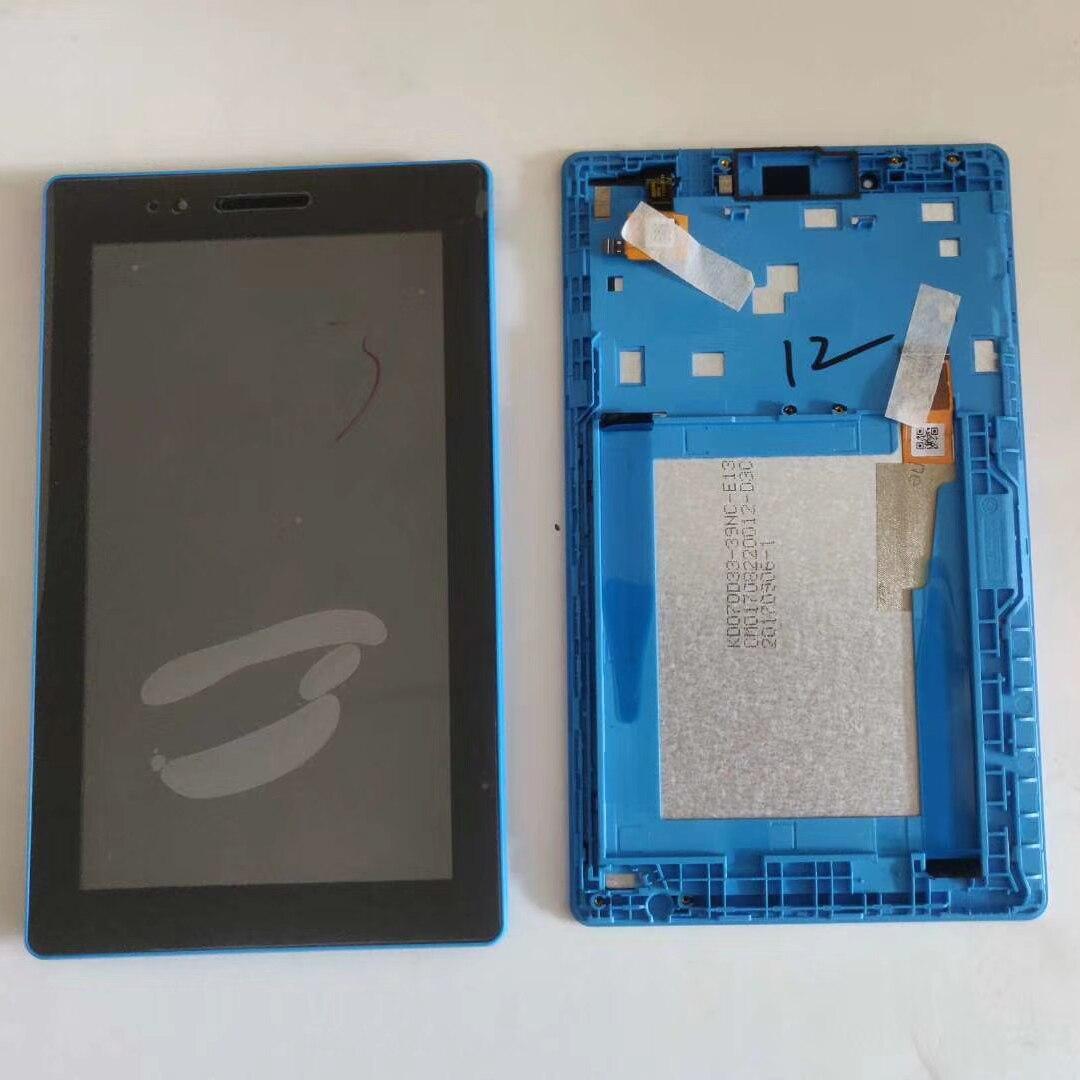 Nuevo para Lenovo Tab 3 7,0 710 esencial Tab3 TB3 710F 710L 710i pantalla táctil digitalizador cristal LCD pantalla con marco reemplazar LCD