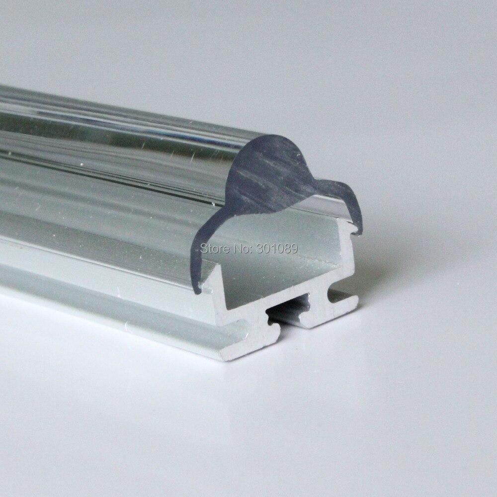 40m (20 piezas) por lote, 2m por Uds., perfil de aluminio para tiras de luz led, cubierta transparente o cubierta difusa lechosa o lente de 30 grados