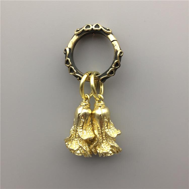 LLavero de estilo chino vintage con diseño de col china hecho a mano con llavero colgante para accesorios de regalo bolsas de decoración