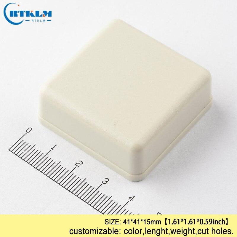 Abs de plástico pequeño instrumento de mano carcasas 41*41*15mm junction carcasa de plástico para electrónica Dispositivo de PCB caja