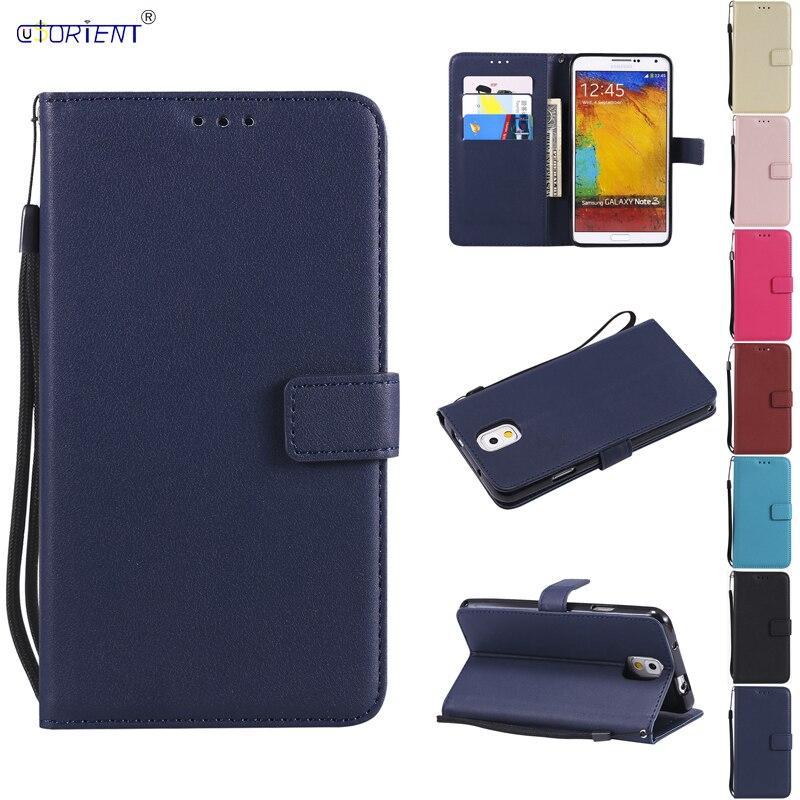 Funda abatible para Samsung Galaxy Note 3 Note3 SM N900 SM-N900 N9000 SM-N9000Q N9002 SM-N9002 N9005 SM-N9005 Funda de cuero para teléfono