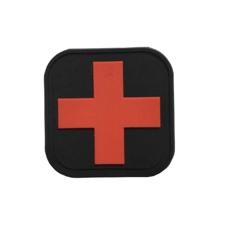 Рюкзак для медсестер из ПВХ, черный, Швейцарский, с перекрестным флагом