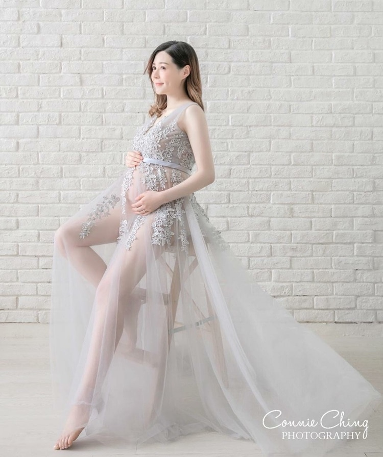 2020 New come Top Quality Pregnant Maternity Women Fashion Photography Props Romantic long Fairy  Dress Photo shoot  Gray dress enlarge