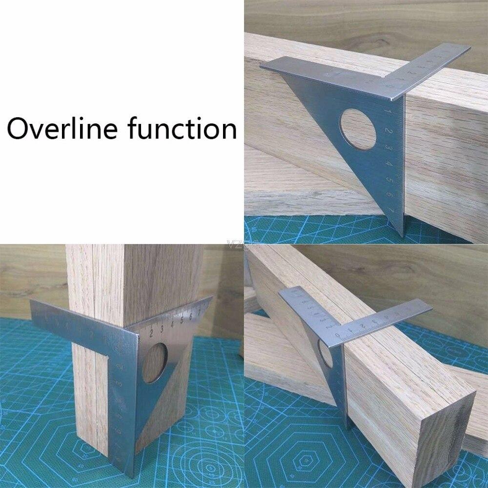 Carpintaria régua layout quadrado mitra trama triangular 45 degreen 90 graus medidor métrico may30 dropship