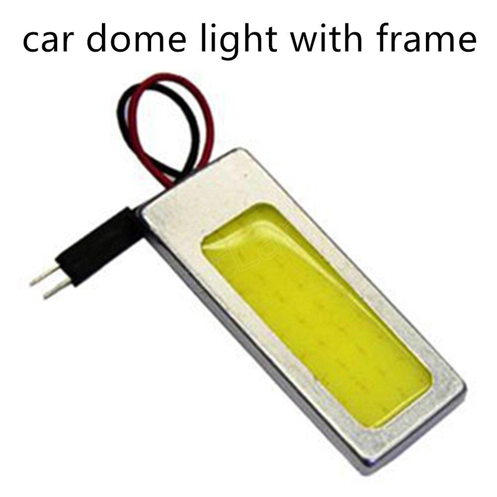 new arrival COB 36 Frame LED Car Interior Light bulb T10 Festoon Adapter Vehicle LED lamp Panel car light source 10 pieces