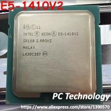 Dorigine Intel Xeon E5 1410V2 2.80 GHZ 4-Core E5 1410 V2 10 MB SmartCache E5-1410V2 LGA1356 80 W livraison gratuite E5-1410 V2