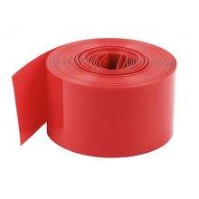 Film thermorétractable en PVC rouge   5 mètres longueur 23mm tube thermorétractable pour 1 x pile AA