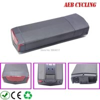 free shipping ebike battery pack high power 48v 12 8ah rb 3 rear rack li ion electric bicycle battery for city bike with charger