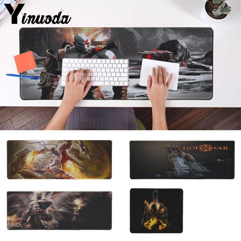 Yinuoda Vintage genial, dios de la guerra Kratos ratones Gaming para portátil Mousepad buena calidad Borde de bloqueo Alfombrilla de ratón grande anime para dota
