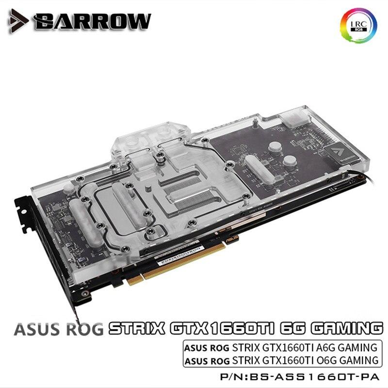 Barrow LRC2.0 5v3pin ASUS Raptor GTX1660TI Full Coverage Graphics Cool Head Aurora BS-ASS1660T-PA