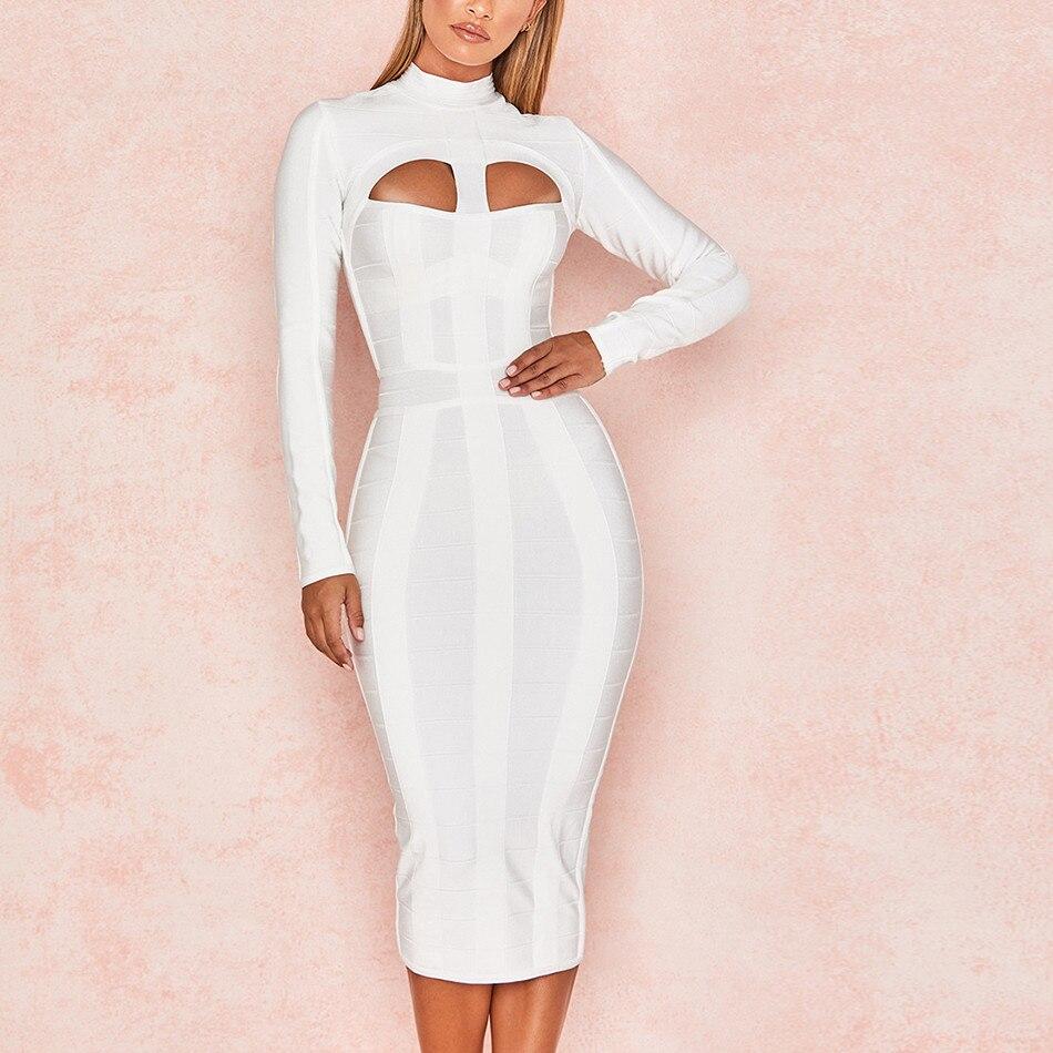 Вечерние бандажные платья 2018 весна лето женские белые модные платья знаменитостей женская одежда сексуальные Клубные платья