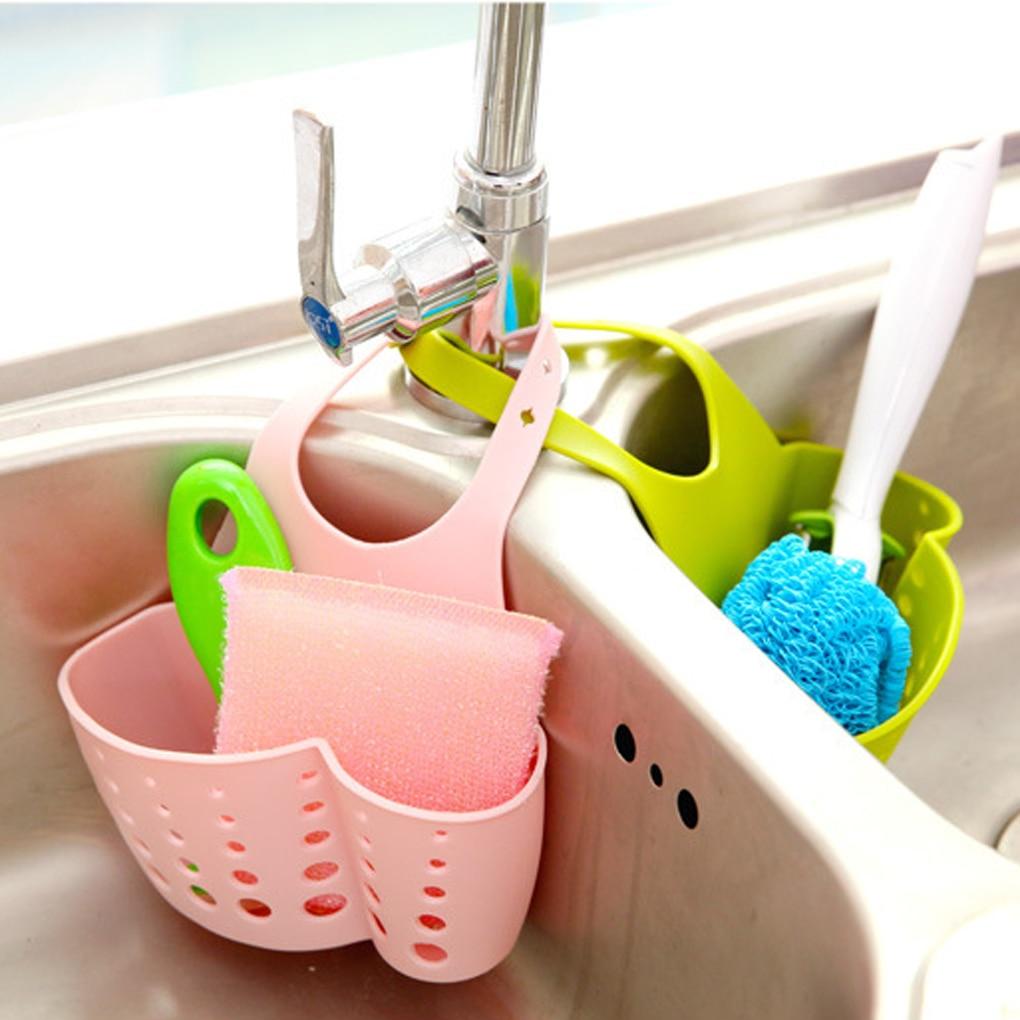 Estante colgante portátil, bolsa de drenaje, cesta de almacenamiento de baño, herramientas, soporte de fregadero, accesorios de cocina de plástico