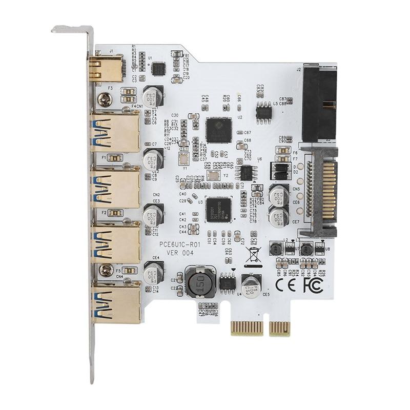 Adaptador de 4 puertos tipo C Pci-E a USB 3,0, Conector de tarjeta de expansión, interfaz Dual para Windows Xp Vista, Windows 7, Linux y Windows 8