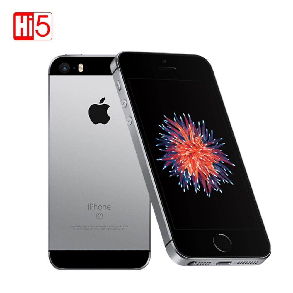 Teléfono móvil Original Apple iphone SE, PhoneA1723/A1662, 2GB de RAM, 16 GB/64 GB de ROM, 4,0 pulgadas, teléfono inteligente multilingüe iOS de doble núcleo usado