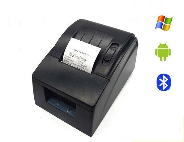 Bolsillo de la Impresora Térmica de Recibos de 58mm USB Bluetooth Para Android IO S Moblie Teléfono/Supmarket PC Compatible