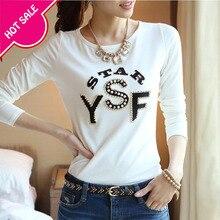 Camiseta básica para mujer, camisetas de verano de manga corta de algodón con cuello redondo combinables, camisetas femeninas blancas de Cuentas de letras sólido, camisetas casuales WT2