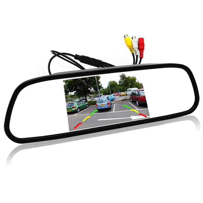 Monitor Digital de 5 pulgadas TFT 800x480 LCD para estacionamiento, Monitor de espejo, 2 entradas de vídeo para cámara de visión trasera, sistema de asistencia de estacionamiento