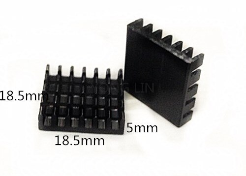 1000pcs IC heatsinks/Heat sink/LED Heatsink/Thermal conductivity/Aluminum 18.5*5-18.5 led  Heatsink